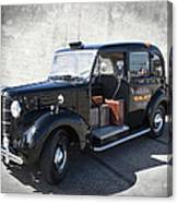 Hackney Carriage Austin Fx3 Of London C. 1955 Canvas Print