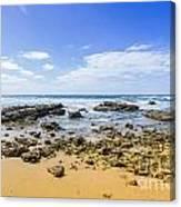 Hadera Mediterranean Beach Canvas Print