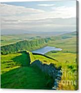 Hadrians Wall And Crag Lough Canvas Print