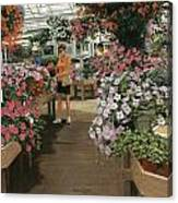Haefner's Garden Center Impatiens Canvas Print