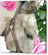 Haggis The Highland Rose Canvas Print