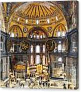 Hagia Sofia Interior 35 Canvas Print