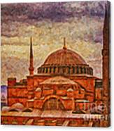 Hagia Sophia Digital Painting Canvas Print