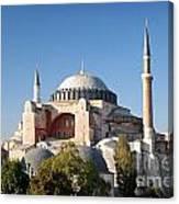 Hagia Sophia Mosque Landmark In Instanbul Turkey Canvas Print