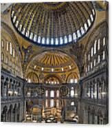 Hagia Sophia Museum In Istanbul Turkey Canvas Print