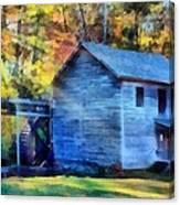 Hagood Mill With Sunrays Canvas Print