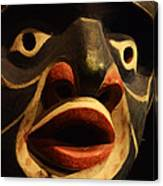Haida Carved Wooden Mask 5 Canvas Print