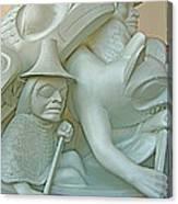 Haida Sculpture Closeup In Canadian Museum Of Civilization In Gatineau-quebec-canada Canvas Print
