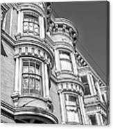 Haight Street Windows Bw Canvas Print