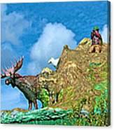 Haines Junction Landmark-yt Canvas Print