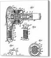 Hair Dryer 3 Patent Art 1931 Canvas Print