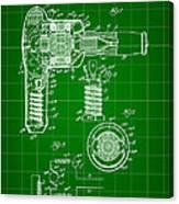 Hair Dryer Patent 1929 - Green Canvas Print