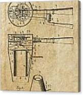 Hair Dryer Patent Art 1911 Canvas Print