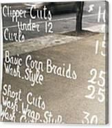 Hair Salon Sign Canvas Print