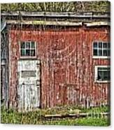 Hairy Red Barn Canvas Print