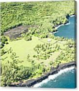 Aerial View Hale O Pi'ilani Heiau Honomaele Hana Maui Hawaii  Canvas Print