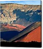 Haleakala Cinder Cones Lit From The Sunrise Within The Crater Canvas Print
