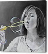 Bubble Girl Canvas Print
