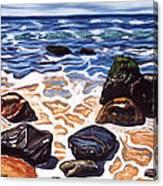 Half Circle Rocks Canvas Print
