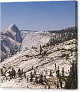 Half Dome And The High Sierra Canvas Print