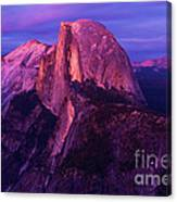 Half Dome Glow Canvas Print