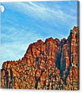 Half Moon Over Zion National Park-utah Canvas Print