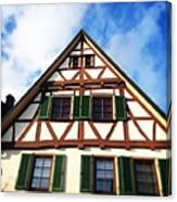 Half-timbered house 02 Canvas Print