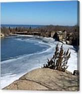 Icy Quarry Canvas Print