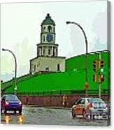 Halifax Historic Town Clock Graphic Canvas Print