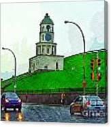 Halifax Historic Town Clock Canvas Print