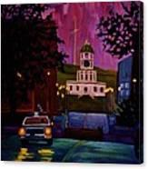 Halifax Night Patrol And Town Clock Canvas Print