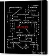 Halifax Nova Scotia Crosswords Red Canvas Print