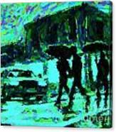 Halifax On A Rainy Night Canvas Print