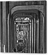 Hall Of Giants - Beneath The Aurora Bridge Canvas Print