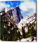 Hallett Peak In Spring Canvas Print