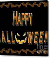 Halloween Bat Border Canvas Print