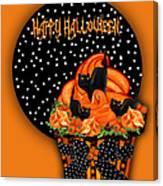 Halloween Black Cat Cupcake 2 Canvas Print