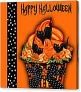 Halloween Black Cat Cupcake 3 Canvas Print