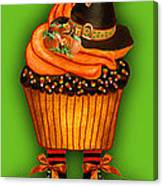 Halloween Cupcakes - Green Canvas Print