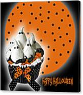 Halloween Ghost Cupcake 2 Canvas Print