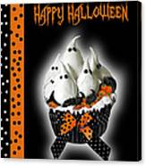 Halloween Ghost Cupcake 3 Canvas Print