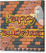 Halloween Greeting Card - Brick Wall In Philadelphia Canvas Print