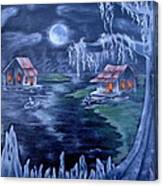 Halloween In The Swamp Canvas Print