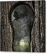 Halloween Keyhole Canvas Print