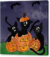 Halloween Kittens Canvas Print