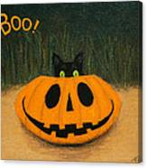 Halloween Kitty Boo Canvas Print