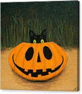 Halloween Kitty Canvas Print