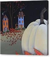 Halloween On Pumpkin Hill Canvas Print