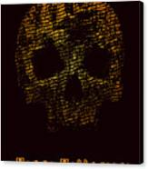 Halloween Poster With Skull. Vector Canvas Print