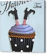 Halloween Treat Witch Cupcake Canvas Print